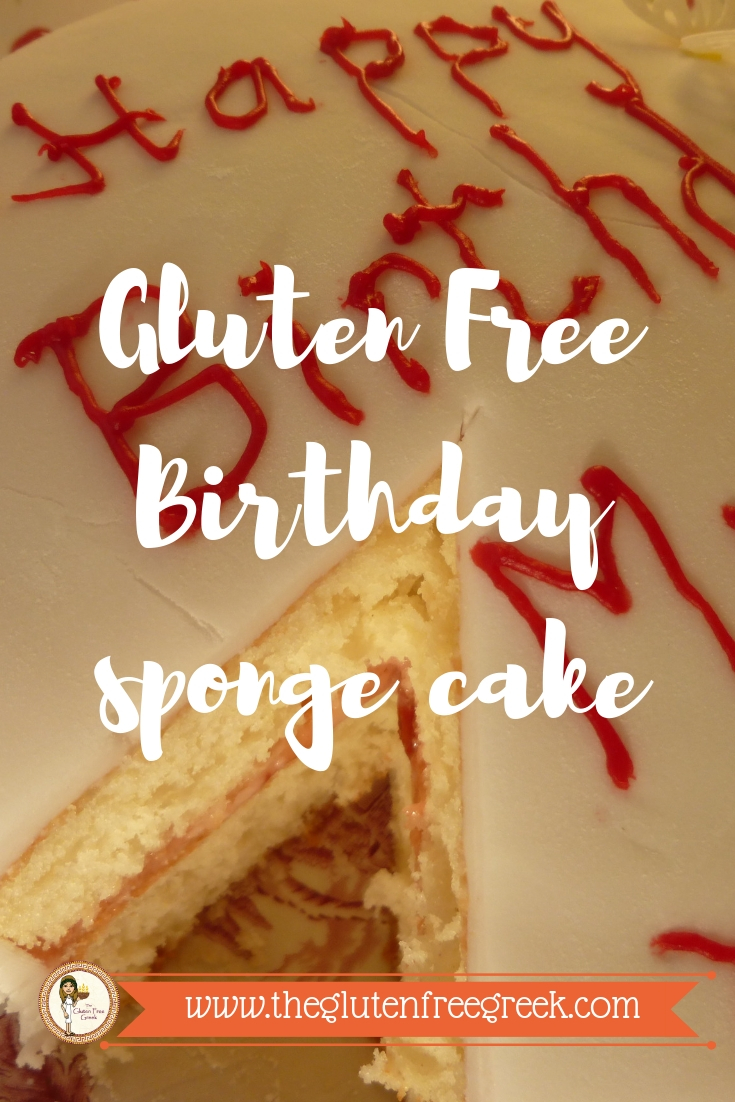 gluten free birthday sponge cake