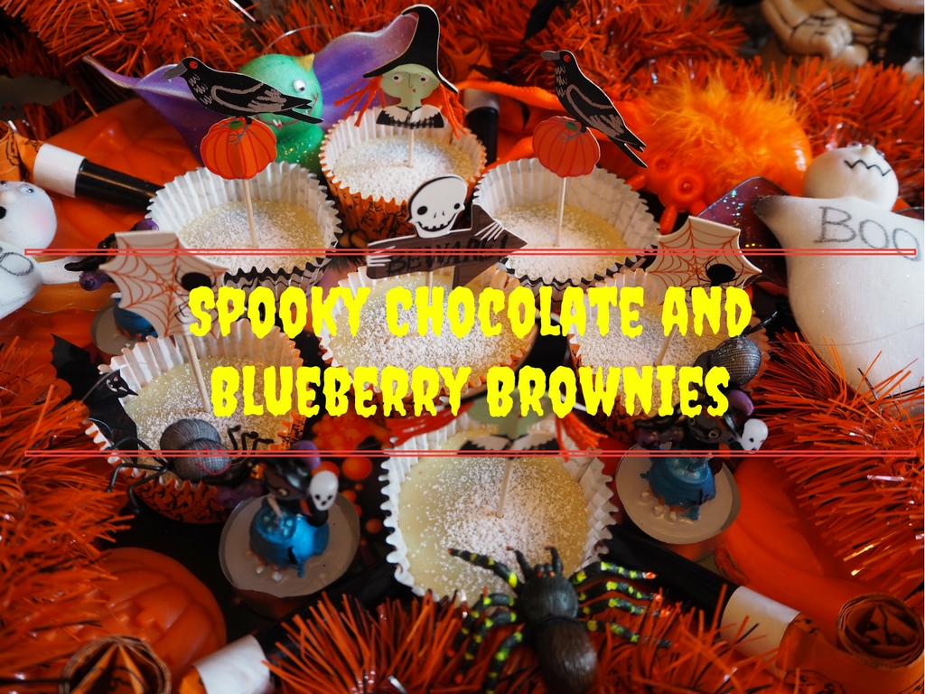 spooky chocolate brownies header
