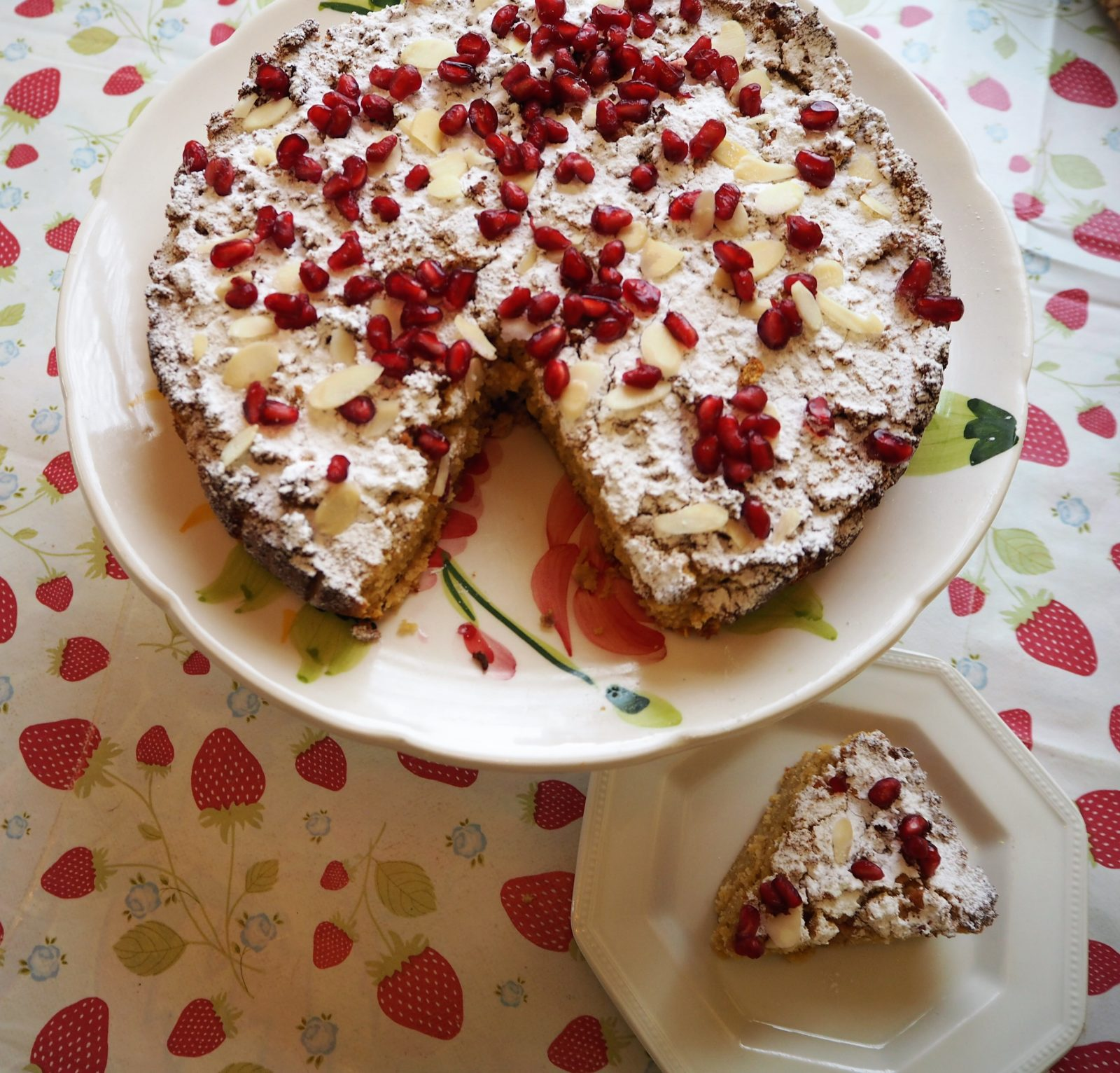 Clementine and Pomegranate Cake
