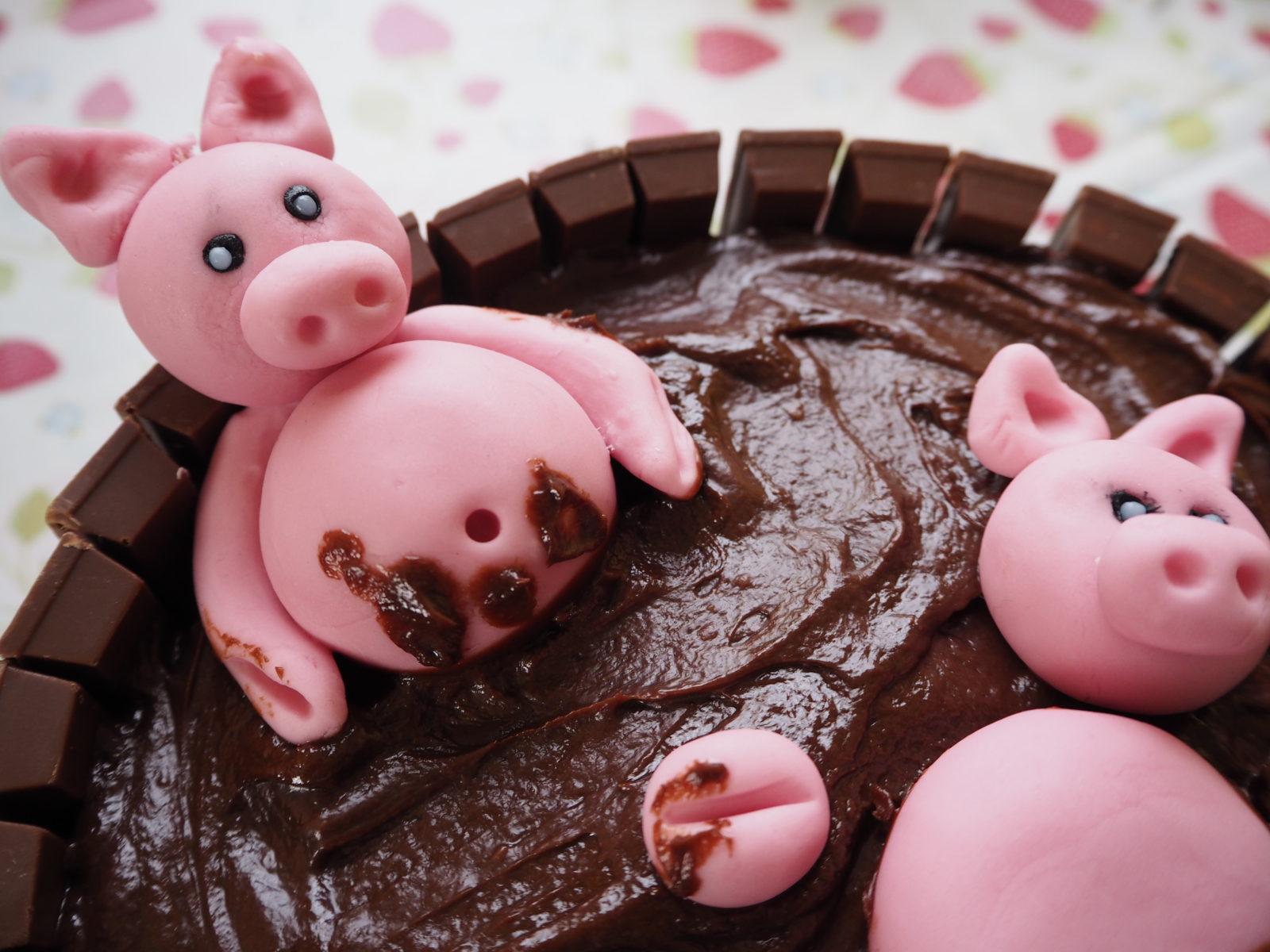 Chocolate Pig Cake The Gluten Free Greek
