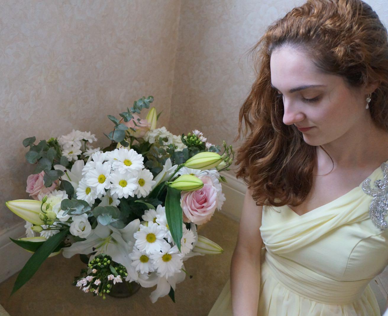 lemon dress and flowers