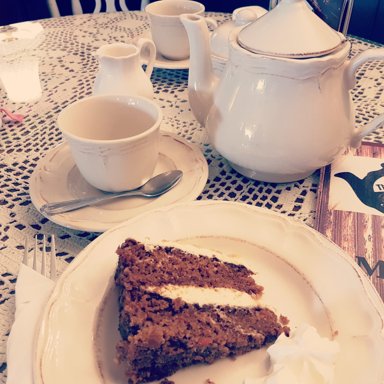 carrot cake at the remedy tea shop southend