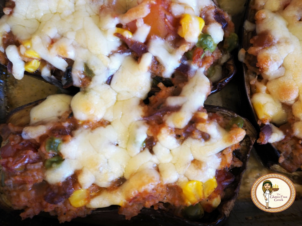 Baked and Stuffed Aubergines