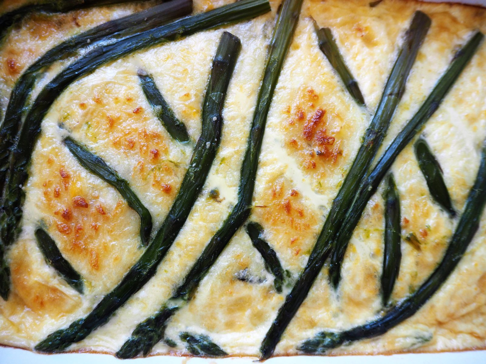 Courgette and Asparagus Quiche
