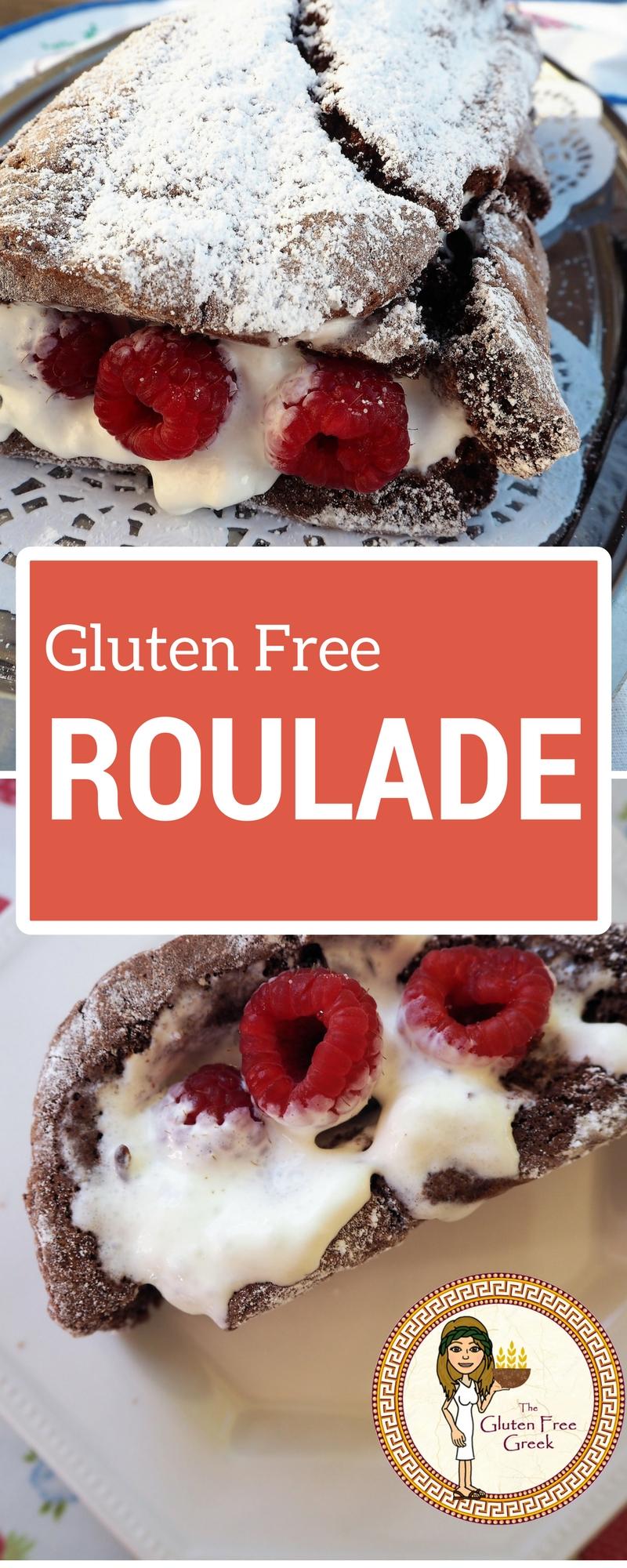 gluten free chocolate roulade pinterest
