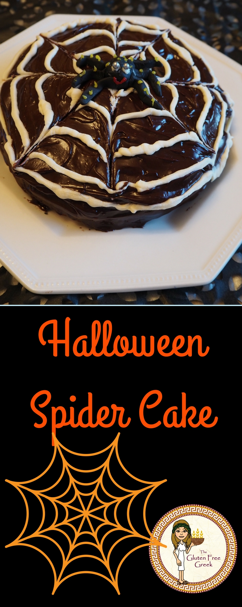 Halloween spider cake pinterest