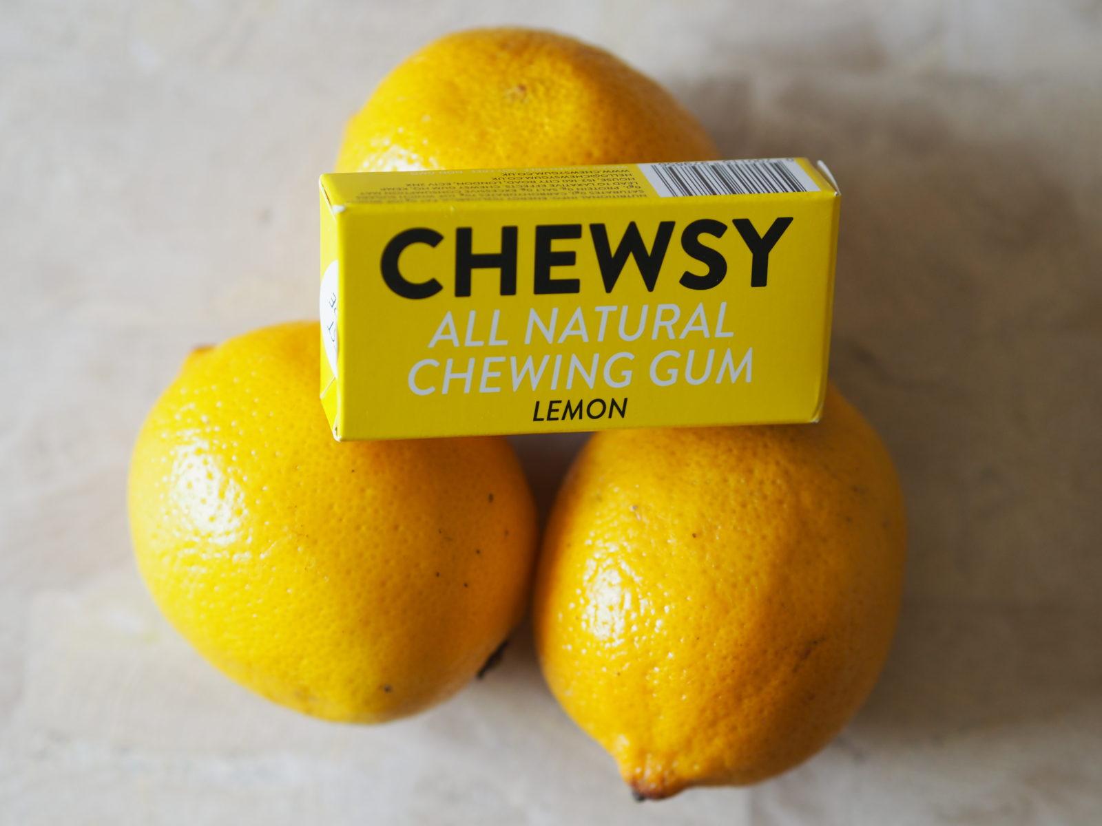 chewsy gum lemon flavour