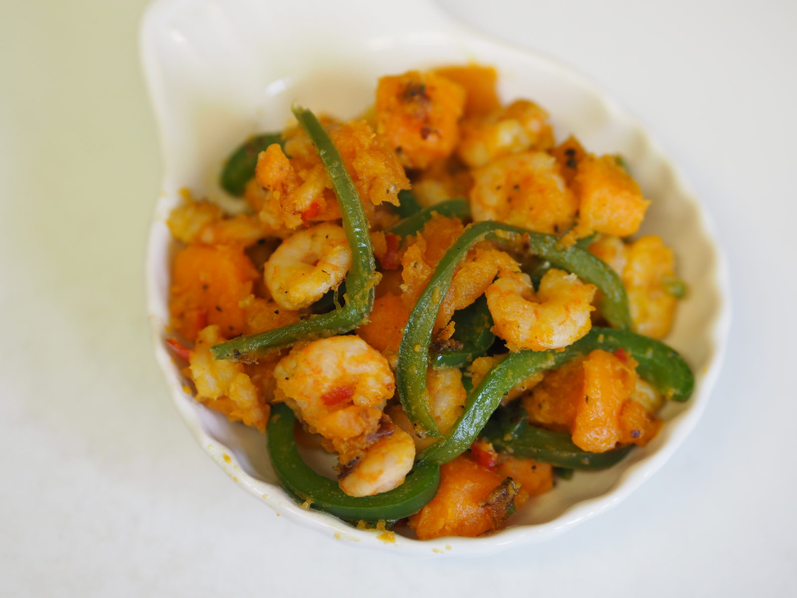 Sweet Potato and Prawn Appetiser
