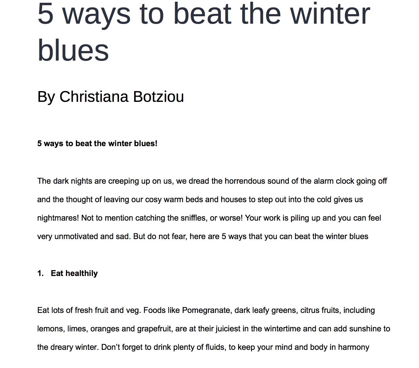 brain fud 5 ways to beat the winter blues