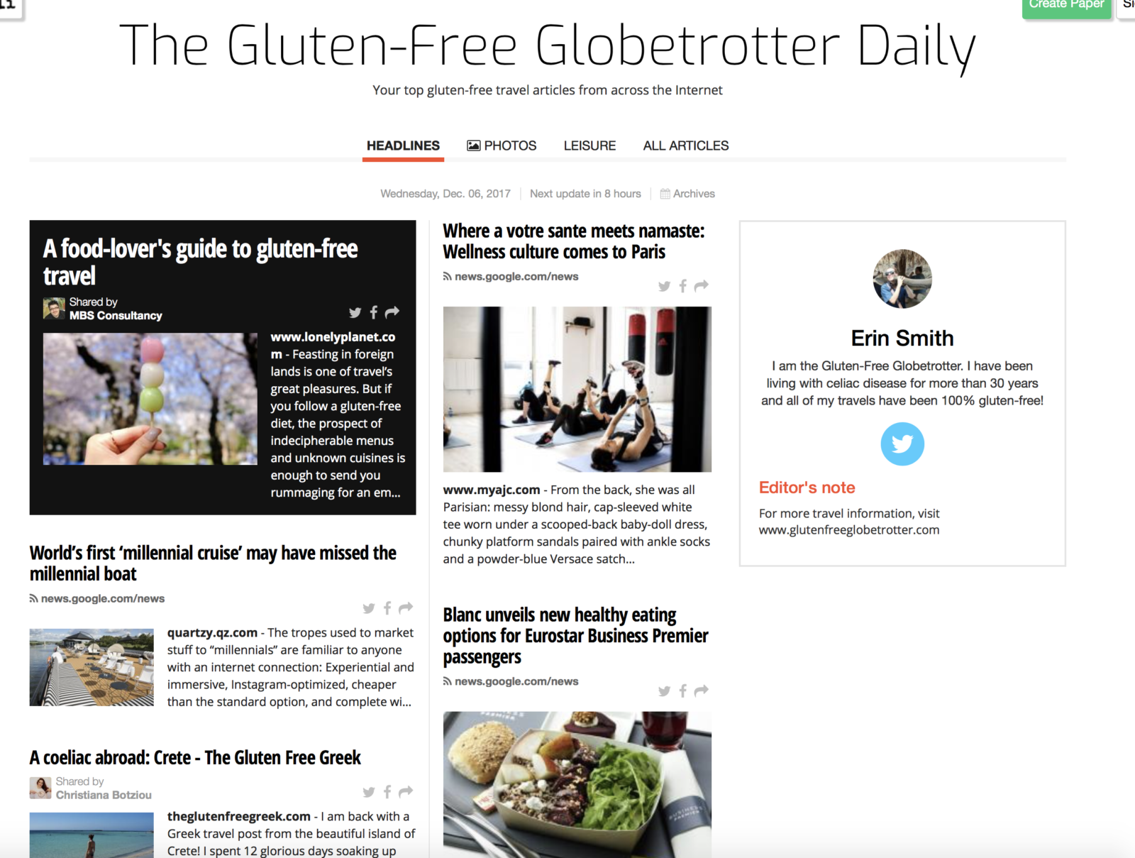 the gluten free globetrotter daily