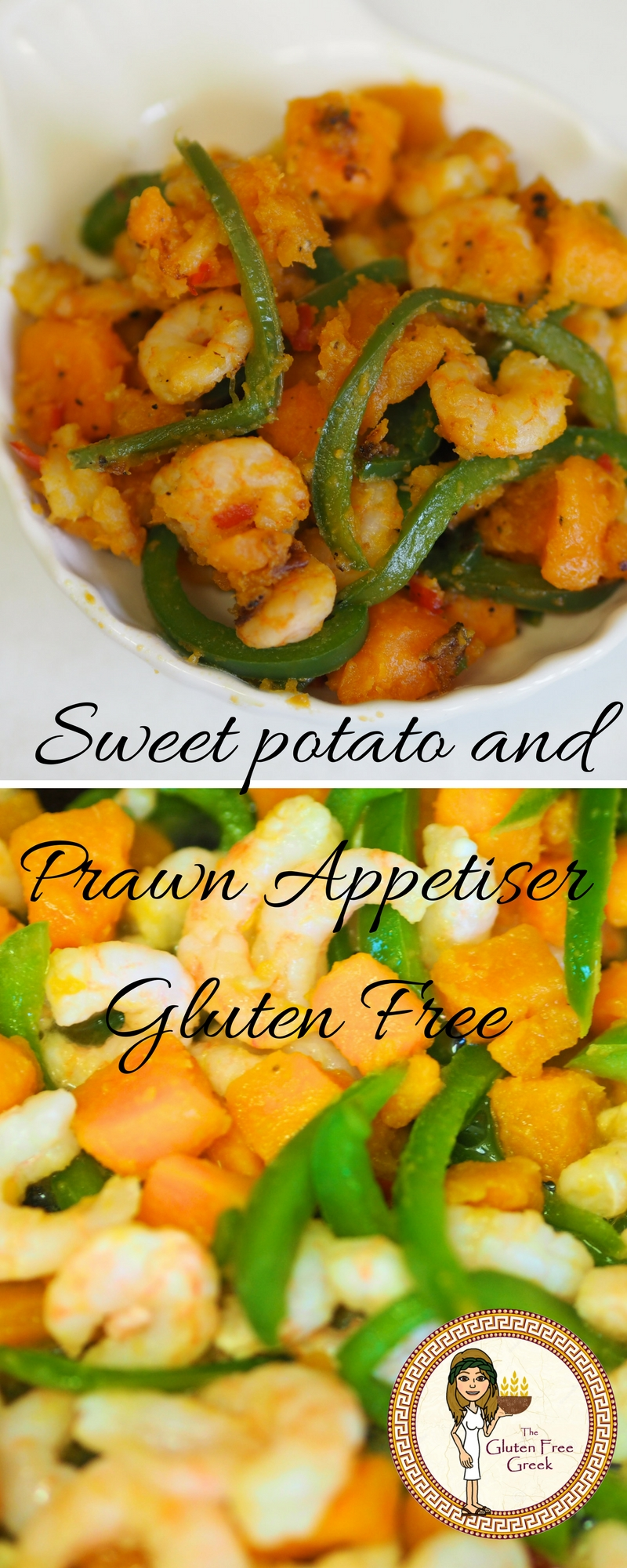 sweet potato and prawn