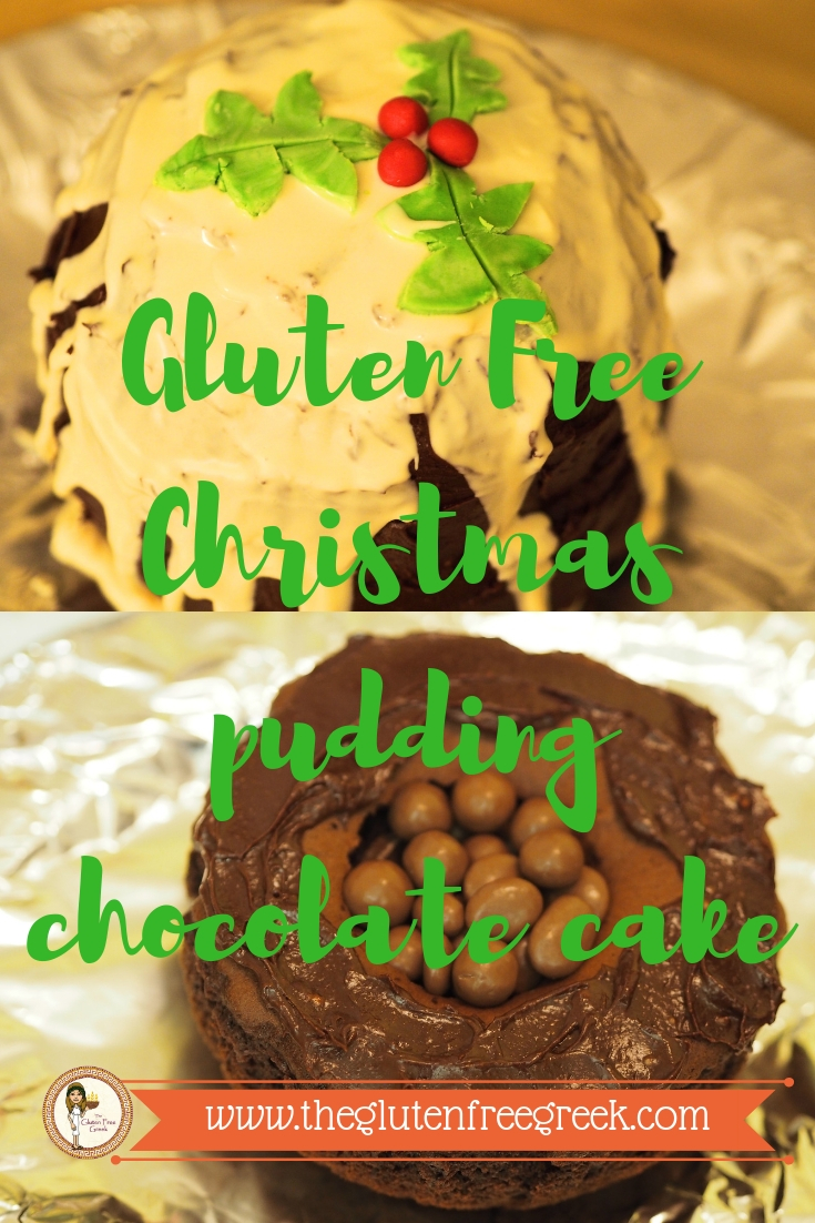 gluten free christmas pudding cake extra moist and chocolatey