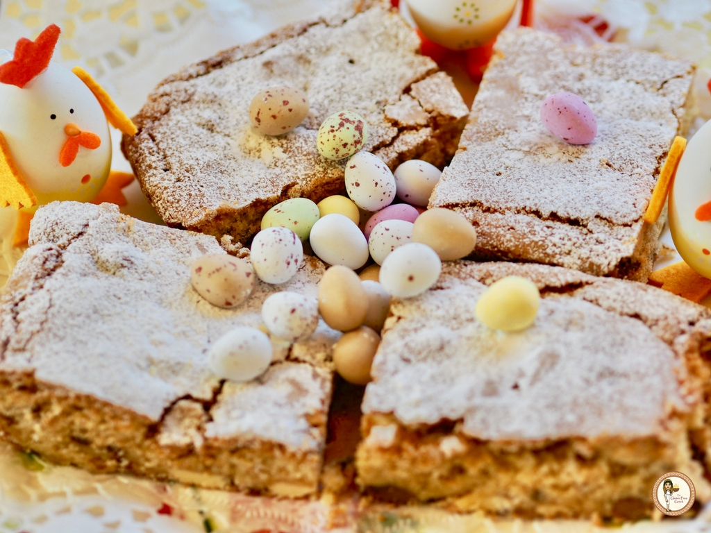 White chocolate Mini Egg Blondies
