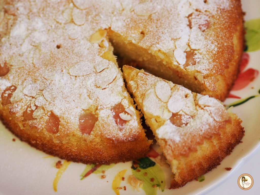 delicious yoghurt and lychee gluten free cake