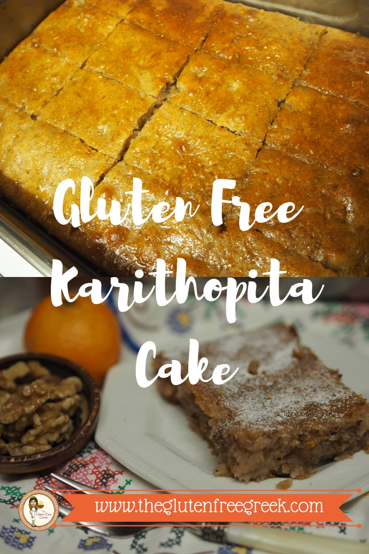 gluten free greek walnut cake karithopita
