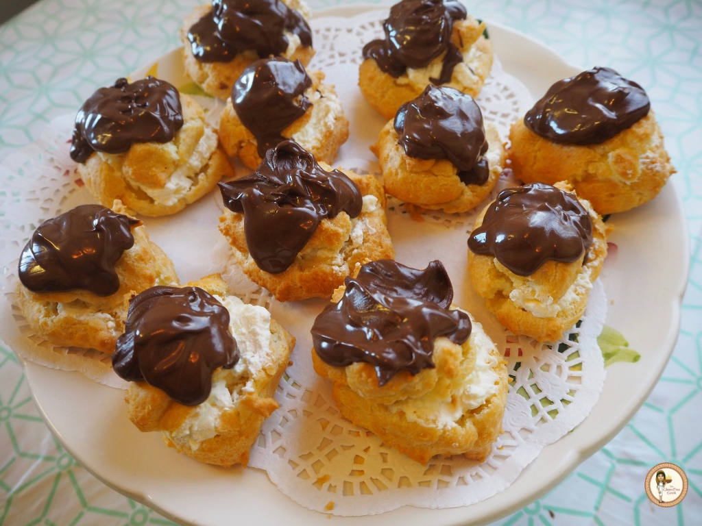 gluten free chocolate choux puffs