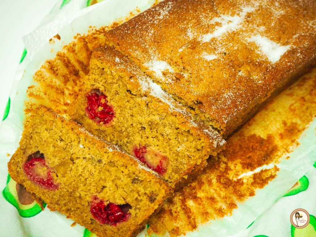 banana and raspberry loaf