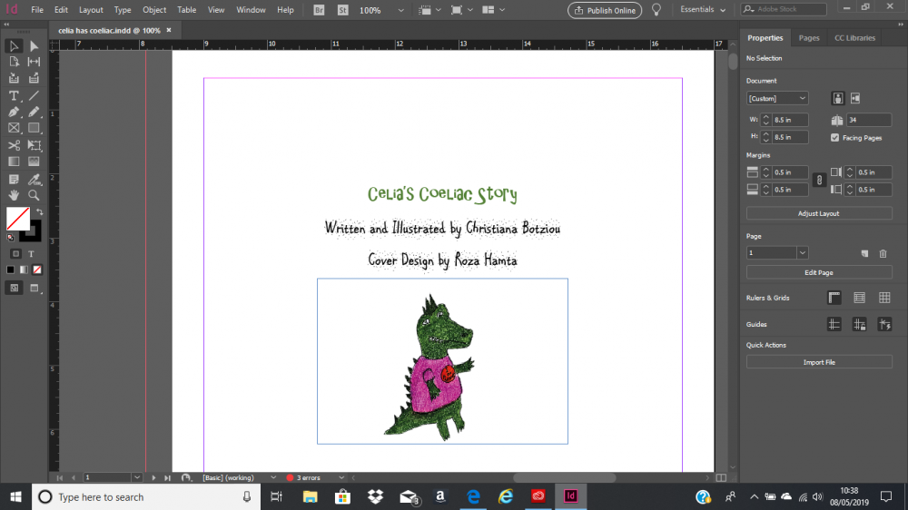 picture book on indesign
