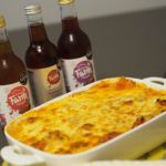pork lasagne featuring barn farm drinks